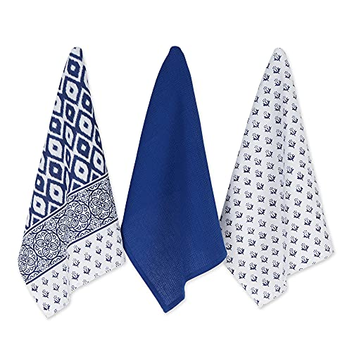 DII Cotton Printed Dish Towels, 18x28' Set of 2, Decorative Oversized Kitchen Towels,Perfect Home and Kitchen Gift-Tunisia