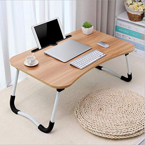 Foldable Portable Multifunction Laptop Desk Lazy Laptop Table,Used as Computer Desk, Dining Table, Bedside Table. (Khaki)