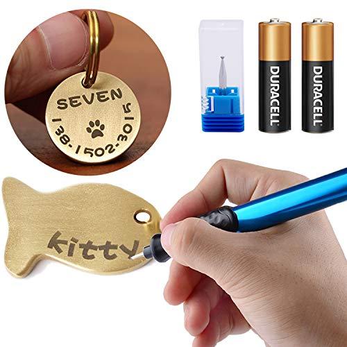 Elektrische Gravierstift Carve Werkzeug für DIY Schmuck Schmuck Metall Glas Cordless Precision Engraver mit Diamond Tip Bit -Blau