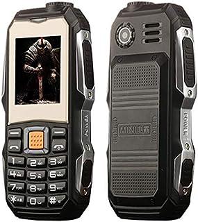 LIJINGFANG Waterproof Shockproof Dustproof, 3800mAh Battery, 1.8 inch Touch Screen, 21 Keys, LED Flashlight, FM, Dual SIM (Color : Black)