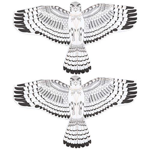 TOYANDONA Niños Cometas Animales Águila Volando Juguetes Adornos Decoraciones Cometas Voladoras Fáciles Cometas de Playa Buenos Juguetes para Niños Adultos 2 Piezas