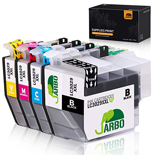 JARBO Compatible Ink Cartridge Replacement for Brother LC3029XXL, 1 Set, Compatible with Brother MFC-J5830DW MFC-J6535DW MFC-J5930DW MFC-J6935DW MFC-J5830DWXL MFC-J6535DWXL Printer (1B, 1C, 1M, 1Y)