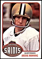 1976 Topps # 485 Archie Manning New Orleans Saints (Football Card) NM+ Saints Ole Miss