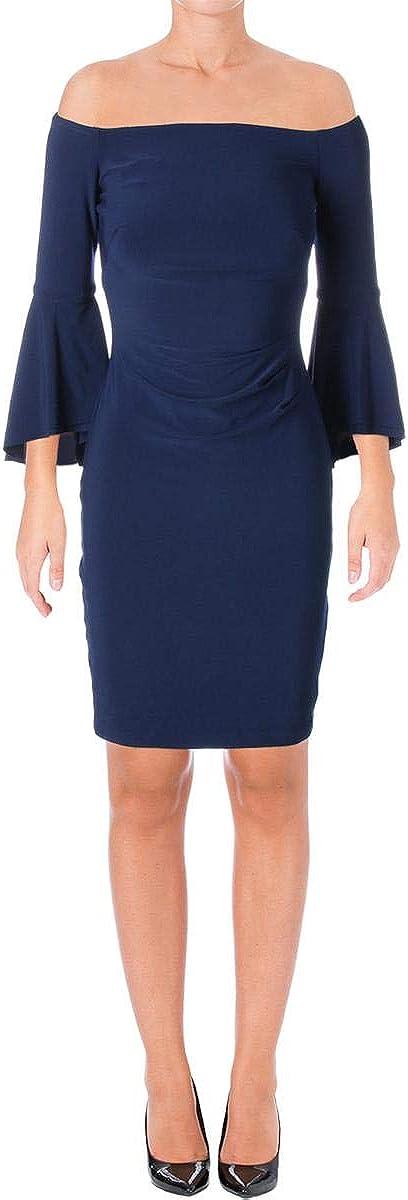 Lauren by Ralph Lauren Women's Plus Off-The-Shoulder Sheath Dress