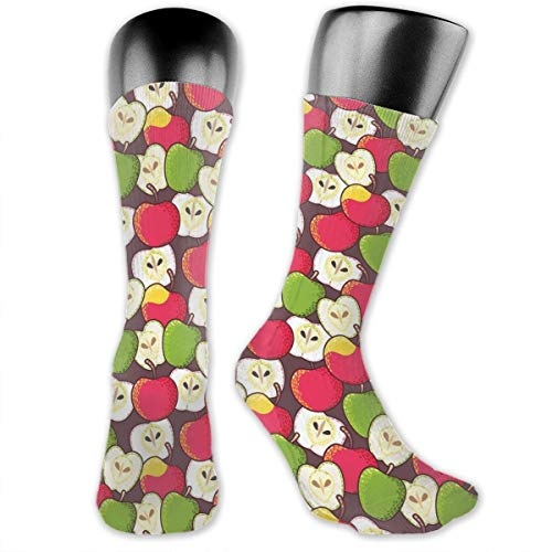 Papalikz Compression Medium Calf Socks,Abstract Red And Green Varieties Of Winter Fruits Juicy Vitamin Sources Fresh Food