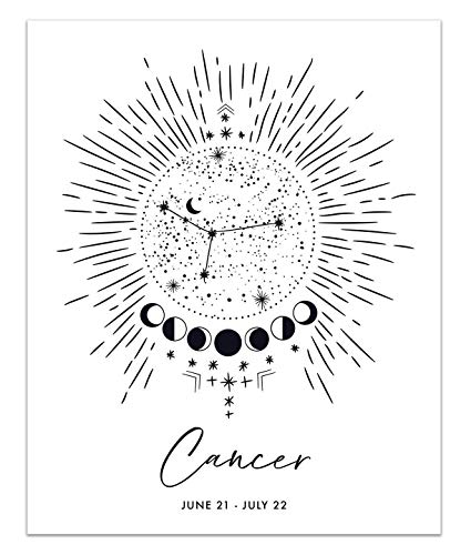 Cancer Zodiac Constellation Art Print - UNFRAMED - 8x10 inches | Crab Horoscope Star Sign Poster by Peechy Prints