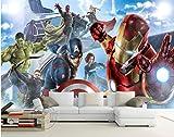Avengers Boys Bedroom Photo Wallpaper Custom 3d Wall Murals Marvel Comics Wallpaper Children's Room...