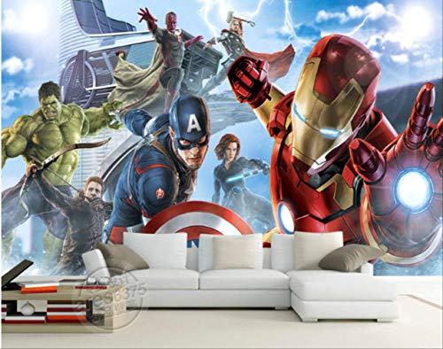 Avengers Jungen Schlafzimmer Foto Tapete Custom 3d Wandbilder Marvel Comics Tapete Kinderzimmer Interior Design Zimmer Dekor Breite300cm * Höhe210cm pro