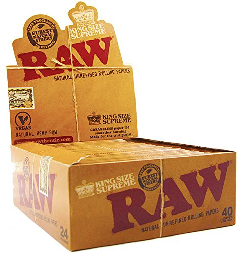 5 Books Raw Supreme Rolling Papers Classic King Size with Free BB Sticker