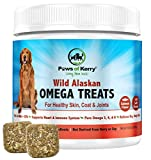 Paws of Kerry Wild Alaskan Salmon Oil Omega 3 for Dogs | Fish Oil for Dogs Skin & Coat | Shedding, Dry, Itchy Skin Relief | Dog Skin Allergy Supplements for Joint, Immunity & Brain |EPA & DHA 120Chews