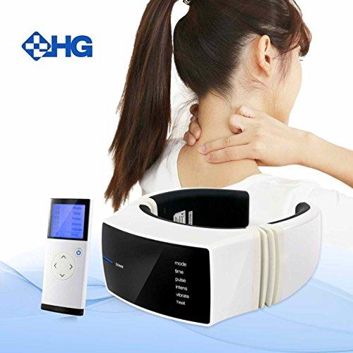 Massaggiatore Cervicale LinkHealth Portatile Dispositivo Massager Del Collo, Trattamenti Multimode Terapia Cervicale per il Soccorso Dolore al collo a casa e il posto di lavoro senza fili Remote Controller