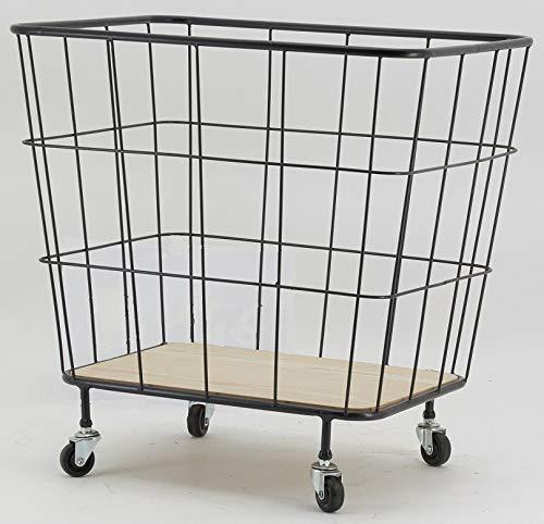 AubryGaspard - Cesta de almacenamiento de metal con ruedas