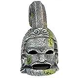 MJSHA Paisajismo Creativo de pecera,Casco de Acuario y Adornos de Armadura de deidad,Escultura de Cabeza,decoración de artesanías de Resina (Helmet)