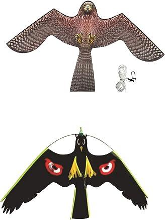 Homyl 2pcs Manches à Air Cerf-Volant Grand Faucon Jardin Effaroucheur Agricoles Oiseau - 140x85 cm+128x52 cm