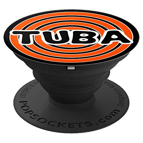 Cool Tuba Retro Design Band Tuba Player Cool Musician Gift PopSockets Grip and Stand for Phones and Tablets