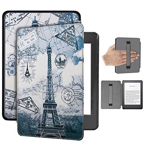 RZL Teléfono móvil Fundas para Paperwhite Kindle 4 2018, Caso de la Cubierta del sostenedor de la PU de Cuero de Lujo de la Mano de Kindle Paperwhite décima generación (Color : Tower Hand Holder)