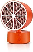 Calefactor Eléctrico 350W Mini Calentador Cerámico 2 velocidades, silencioso y Seguro para Dormitorio, Sala de Estar y Oficina (Naranja)