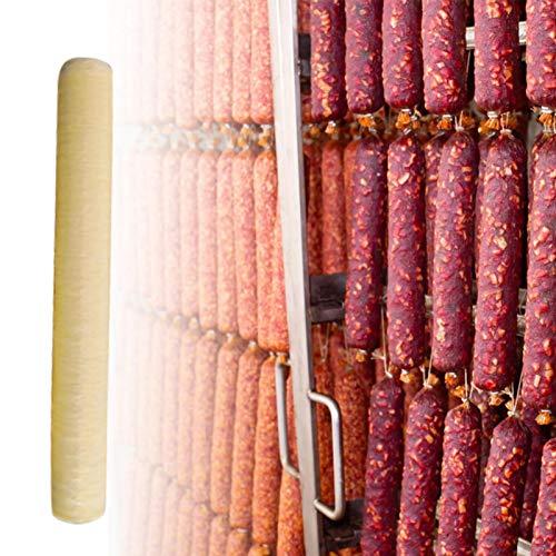 Tripa de colágeno, tripas de colágeno comestible, tubo de tripa de salchicha de cerdo seca para máquina de hacer salchichas, para salchicha asada, salchicha seca, jamón para perros calientes, 14mx26mm