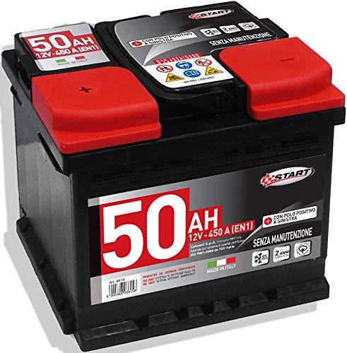 Batteria Auto 50AH 12V 450A polo positivo sinistro Cassetta L1B