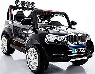 Megastar - Electric Ride on Jeep Style Car ,Black,TT56-B