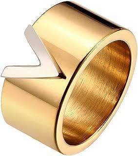 Titanium Steel V Style Love Ring