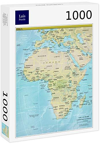 Lais Puzzle Mappa Africa 1000 Pezzi