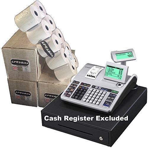 eposbits® marca rollos para que se ajuste a Casio se-s400SES400SES se s S400400en efectivo Registro–60rollos
