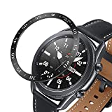 SYXINN Bezelr Ring Compatible with Samsung Galaxy Watch 3 45mm Stainless Steel Protective Ring Cover Decorative Rotating Watch Dial Protection Ring for Galaxy Watch 3 45mm
