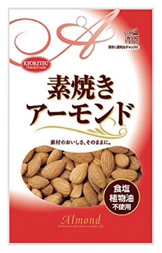 共立食品 素焼き アーモンド チャック付 80g×10袋