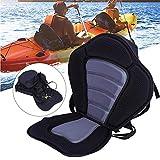 Sedile per Canoa Sedile per Kayak Sedile Posteriore Supporto Antiscivolo Regolabile Rafting Kayak Guida Sedile Posteriore con Tasca Posteriore Rimovibile