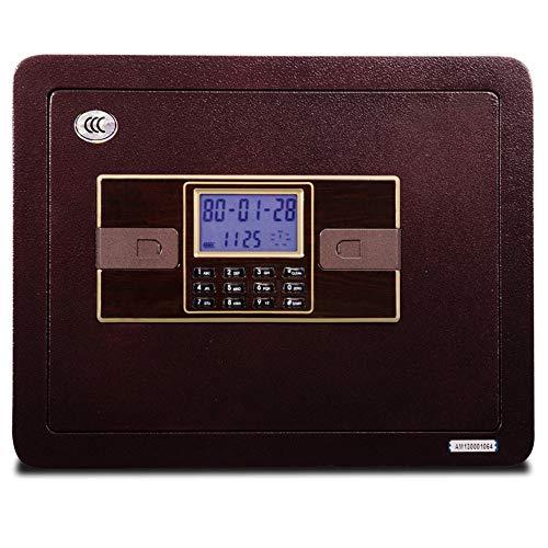 Cajas de Caudales Caja de Seguridad de la combinación Digital de Acero montado en la Pared Caja de Seguridad para pasaportes para Home Business Office Hotel (Color : Purple, Tamaño : One Size)