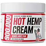 Hot Hemp Cream - Arthritis, Carpal Tunnel, Inflammation, Back, Foot, Nerve, Joint, Muscle, Neck Раin, Natural Stress Relief - MSM, Turmeric, Aloe, Arnica - Warming Topical Salve