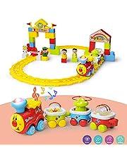 GizmoVine Juguete Infantil de 2 años Juego de Set pequeño Juego de Tren ferroviario para niñas de niños pequeños