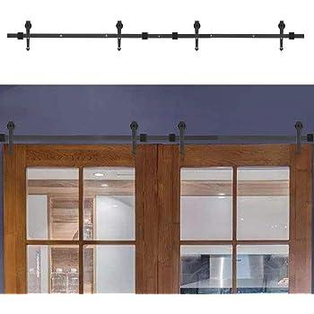 Zoternen Kit de Accesorios de Puertas Tipo de Flecha Herraje de Acero Carbono para Puerta de Granero Corredera de Madera Puerta Deslizante 369cm: Amazon.es: Hogar