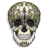 Teschio di zucchero Orologio da parete Scheletro Fiore Tickless Halloween Halloween Opera d'arte tradizionale per il giorno dei morti