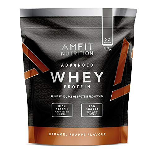 Amazon Brand - Advanced Whey Caramel Frappe 990 g