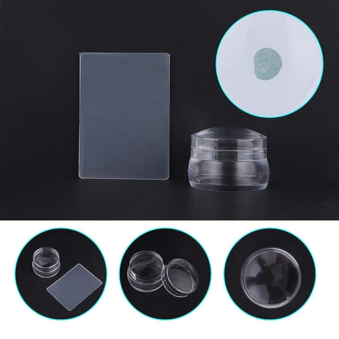 遊具ホールド粒ふたのスクレーパーマニキュアの釘の印刷用具が付いている透明なシリコーンの釘の芸術のスタンパー