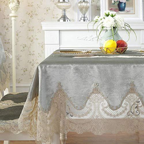 Outdoor Tableclothsembroidered tafelkleed tafel eettafel cover kant tafelkleed Dikke goud fluweel retro huis stof stoel cover