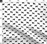 Hund, Hunde, Mops, Möpse, Hundesilhouette Stoffe -