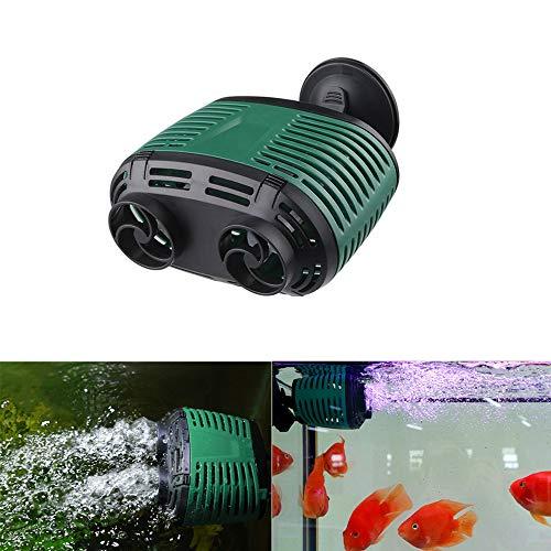 Pssopp Aquarium Wave Maker Aquarium Strömungspumpe Wavemaker Wave Maker Pumpe Umwälzpumpe für Meerwasser Tropen und Süßwasserpumpen(Doppelkopf 24W)