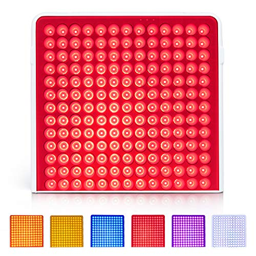 Led Light Therapy Panel Serfory 6 Colors Red Light Therapy Device with Goggles