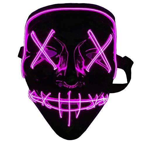 Halloween Mask LED Light Up Mask Halloween...