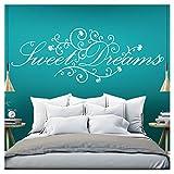 Grandora Wandtattoo Spruch Sweet Dreams I weiß (BxH) 110 x 41 cm I Schlafzimmer süße Träume selbstklebend Sticker Aufkleber Wandaufkleber Wandsticker W718