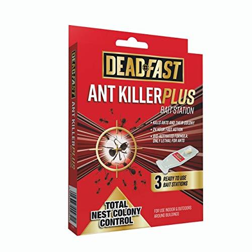 Deadfast 20300502 Ant Killer Plus Bait Station 3 x 4g, Natural