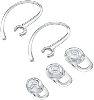 Earbuds Ear Hooks Replacement Ear Tips for Bluetooth Headphones Headset 3 PCS Gels Small, Medium, Large with 2 PC Hook, Clear