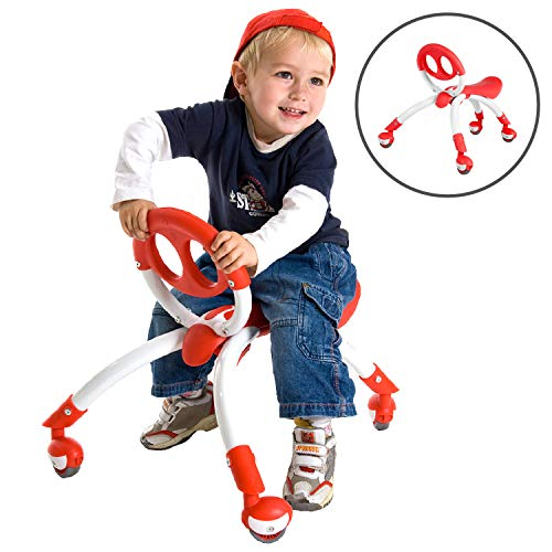 Pewi Walking Ride On Toy - Toddler Walker for Ages 9 Months to 3 Years Old, Red