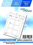 LabelOcean LO-0008-D-70-100 - Etichette universali, 100 fogli, 70 g/mq, carta di alta qualità