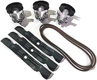 MowerPartsGroup MTD Cub Cadet Spindle 918-04126A 918-04126B 918-04125 w Blades and belt fits RZT50 Zero Turn