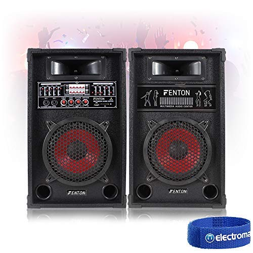 SPA SPA800 8' Active Speakers Home Party MP3 USB SD Microphone Inputs 600W