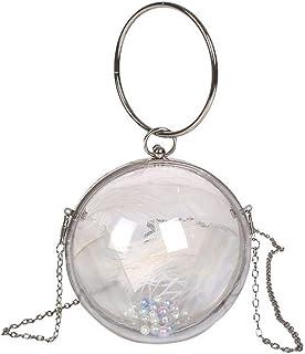 chora Damen Kette Umhängetasche Mode transparent Messenger kleine runde Tasche für Mädchen